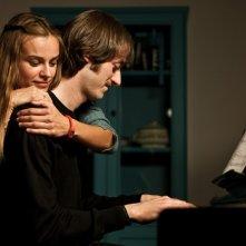 Kasia Smutniak con Cosimo Messeri in una scena del film La passione