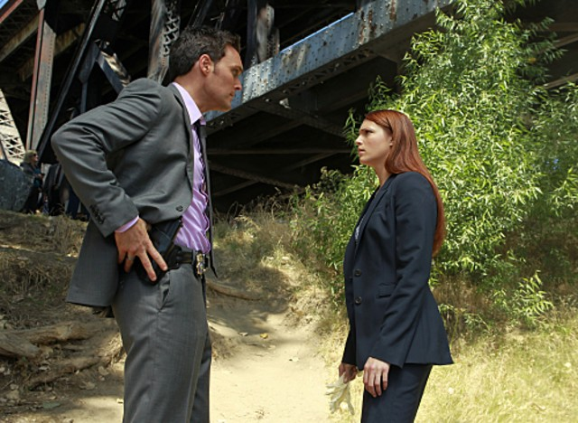 Owain Yeoman Ed Amanda Righetti Nell Episodio The Blood On His Hands Di The Mentalist 175724