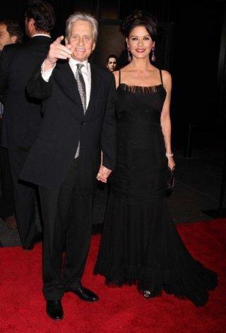 Michael Douglas e Catherine Zeta-Jones alla premiere newyorkese Wall Street: il denaro non dorme