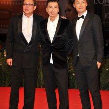 Venezia 2010: il regista Andrew Lau con gli attori Donnie Yen e Shawn Yue all'anteprima del film Legend Of The Fist: The Return Of Chen Zhen