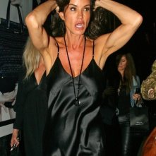 Janice Dickinson fuori dalla London Fashion Week, il 22 Settembre 2010