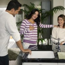 Josh Hopkins, Courteney Cox e Christa Miller nell'episodio Let Yourself Go di Cougar Town