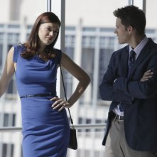 Adrianne Palicki e Bryce Johnson nell'episodio Unveiled di Lone Star