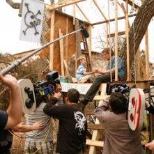 Un'immagine dal set di Like Dandelion Dust diretto da Jon Gunn