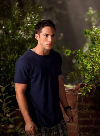 Tyler Lockwood (Michael Trevino) in una scena dell'episodio Bad Moon Rising di Vampire Diaries