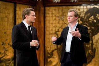 Christopher Nolan e Leonardo DiCaprio sul set di Inception