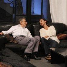 Consuelo Ciatti sul set de Le ombre rosse con Roberto Herlitzka