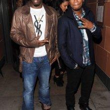 Sean Combs (P. Diddy) e il collega Ne-Yo lasciano il ristorante C in Mayfair a Londra