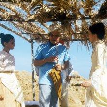 Consuelo Ciatti con Michele Placido sul set di \'Un viaggio chiamato amore\'