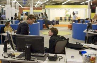 Justin Timberlake e Jesse Eisenberg in una scena di The Social Network