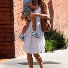 Brooke Burke per strada con i figli: Heaven e Shaya a Brentwood