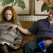 Judy Greer e Patrick Wilson in una scena di Barry Munday