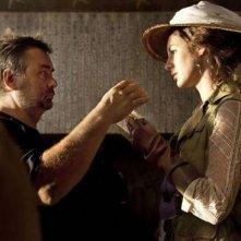 Luc Besson e Louise Bourgoin sul set di Adele e l'enigma del faraone