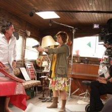 Daniel Auteuil e Medeea Marinescu sul set del film Donnant, Donnant