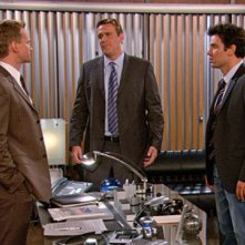 Josh Radnor, Neil Patrick Harris e Jason Segel nell'episodio Unfinished di How I Met Your Mother