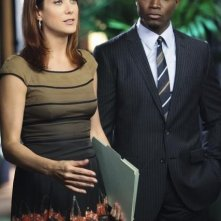Kate Walsh e Taye Diggs nell'episodio A Better Place to Be di Private Practice