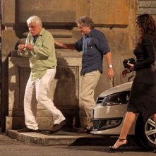 Robert De Niro, Monica Bellucci e Michele Placido sul set di Manuale d'Amore 3
