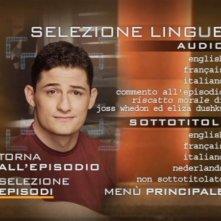 Un'immagine del menù di selezione lingue del primo disco della stagione 1 di Dollhouse