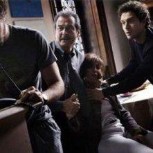 Claudio Santamaria e Ennio Fantastichini in una scena del film tv Le cose che restano