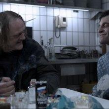 Jürgen Rißmann con Thomas Wodianka in una scena del film Snowman's Land