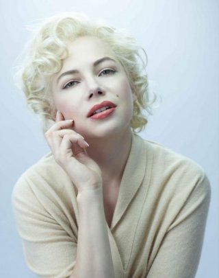 La prima immagine di Michelle Williams nei panni di Marilyn Monroe interpretata nel biopic 'My Week With Marilyn'.