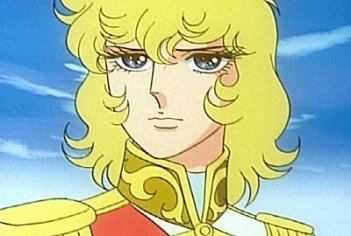 Primo piano della protagonista in una sequenza dell\'anime Lady Oscar (1979)