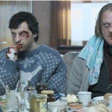Una scena del film Snowman's Land con Jürgen Rißmann e Thomas Wodianka