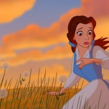 Belle in una sequenza del film d'animazione La bella e la bestia del 1991
