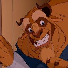 La Bestia in una sequenza del film d'animazione La bella e la bestia della Walt Disney Pictures
