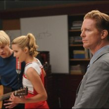 Eric Stoltz sul set dell'episodio Duets di Glee