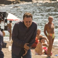 Il cantante Gennaro Cosmo Parlato sul set del film Passione di John Turturro