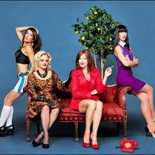 Laura Benanti, Patti LuPone, Sherie Rene Scott and Nikka Graff Lanzarone in una immagine promo per 'Donne sull'orlo di una crisi di nervi' a Broadway
