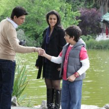 Shahrukh Khan con gli altri protagonisti del film My Name Is Khan