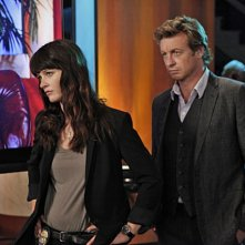 Simon Baker e Robin Tunney nell'episodio Red Carpet Treatment di The Mentalist