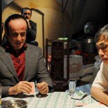 Toni Servillo in una scena di Gorbaciof con Hal Yamanouchi