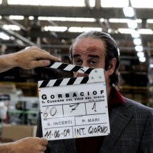 Toni Servillo sul set del film Gorbaciof