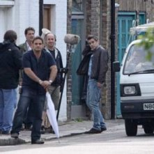 Colin Farrell sul set di London Boulevard