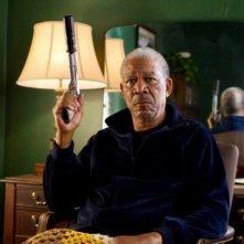 Morgan Freeman in una scena del film Red
