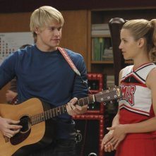 Chord Overstreet e Dianna Agron nell'episodio Duets di Glee