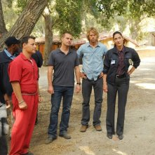 LL Cool J, L. Mandylor, C. O'Donnell, E.C. Olsen e A. Coppola in Little Angels di NCIS: Los Angeles