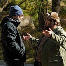 Giuseppe Battiston con il regista Lucio Pellegrini sul set di Figli delle stelle