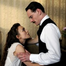 Keira Knightley e Michael Fassbender in A Dangerous Method