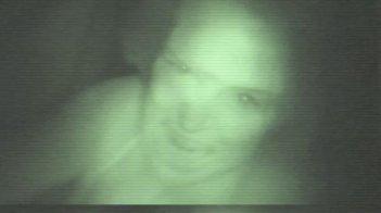 Un'immagine horror tratta da Paranormal Activity 2