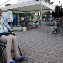 Antonio Topitti sul set del corto Salve Regina (foto: Gianluca Pisciaroli)