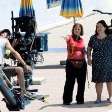 Manuela Di Giacinto con la regista Laura Bispuri sul set corto Salve Regina