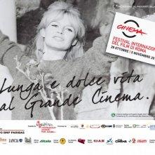 Brigitte Bardot in una delle belle immagini promozionali per il Festival di Roma 2010