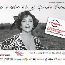 Gina Lollobrigida in una delle belle immagini promozionali per il Festival di Roma 2010