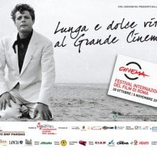 Marcello Mastroianni in una delle belle immagini promozionali per il Festival di Roma 2010