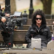 Sean Penn sul set del film This Must Be the Place, di Paolo Sorrentino.