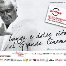 Vittorio De Sica in una delle belle immagini promozionali per il Festival di Roma 2010